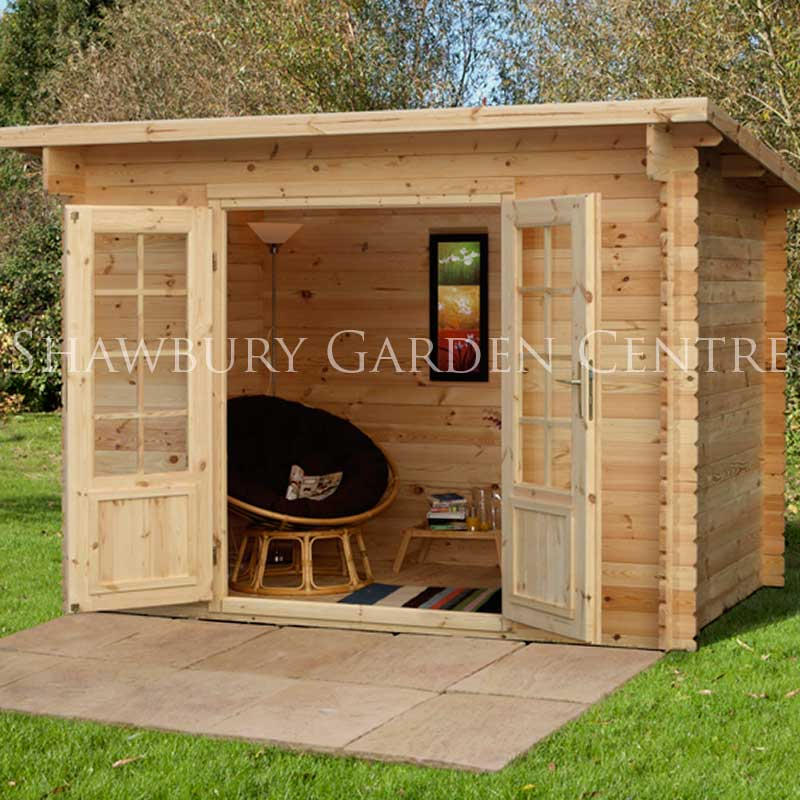 Picture of Forest Garden Harwood Log Cabin Assembled