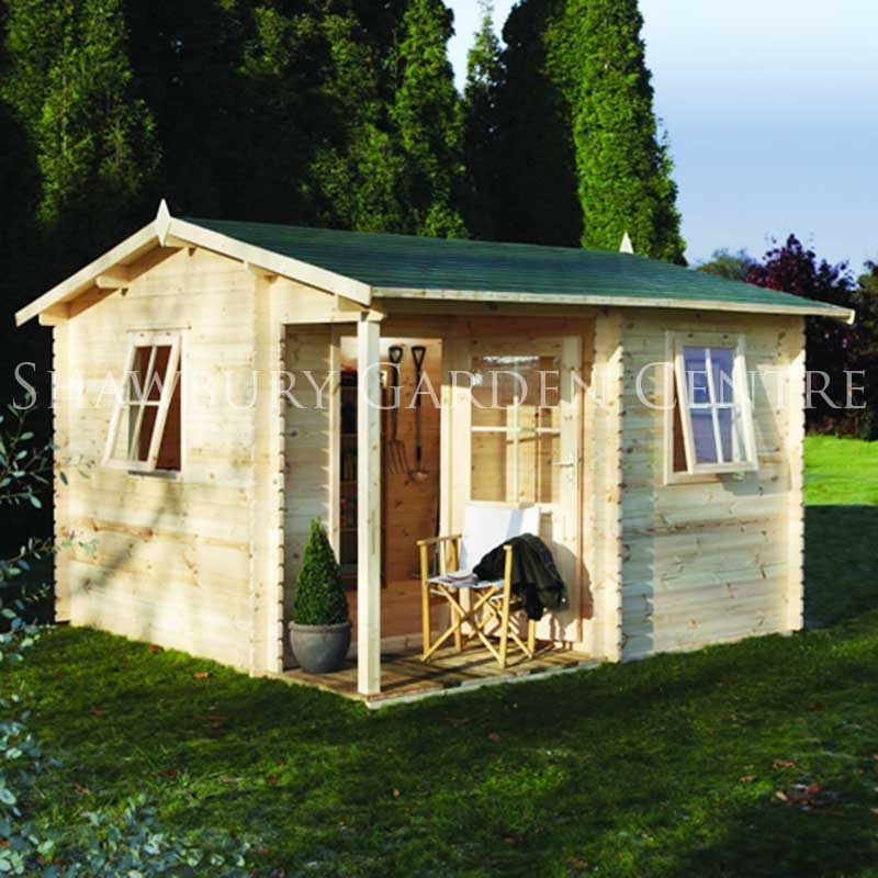 Picture of Forest Garden Malvern Log Cabin Assembled