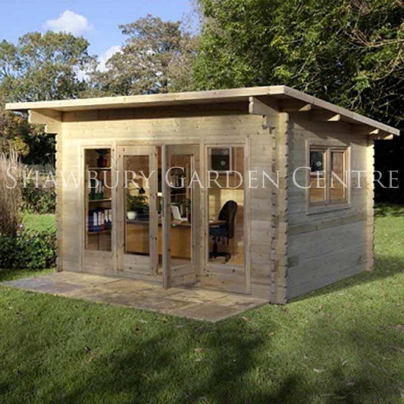 Picture of Forest Garden Melbury Log Cabin Assembled