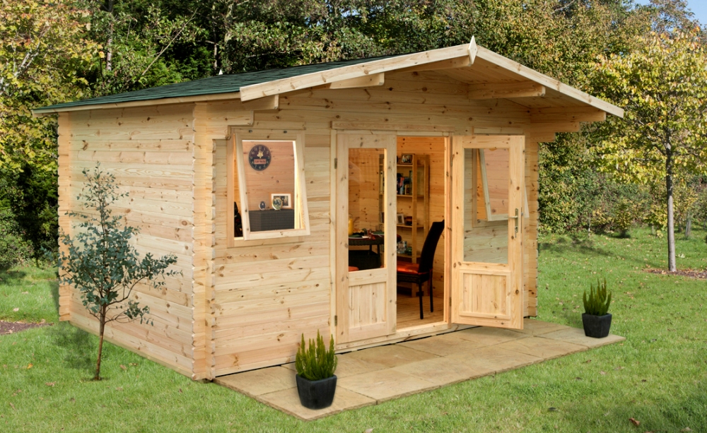 Picture of Forest Garden Nevis Log Cabin: 4m x 4m inc Assembly