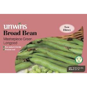 Picture of Unwins 'Masterpiece Green' Broad Bean Seeds