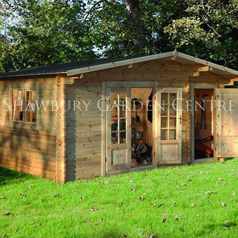 Picture of Forest Garden Wrekin Log Cabin: Assembled