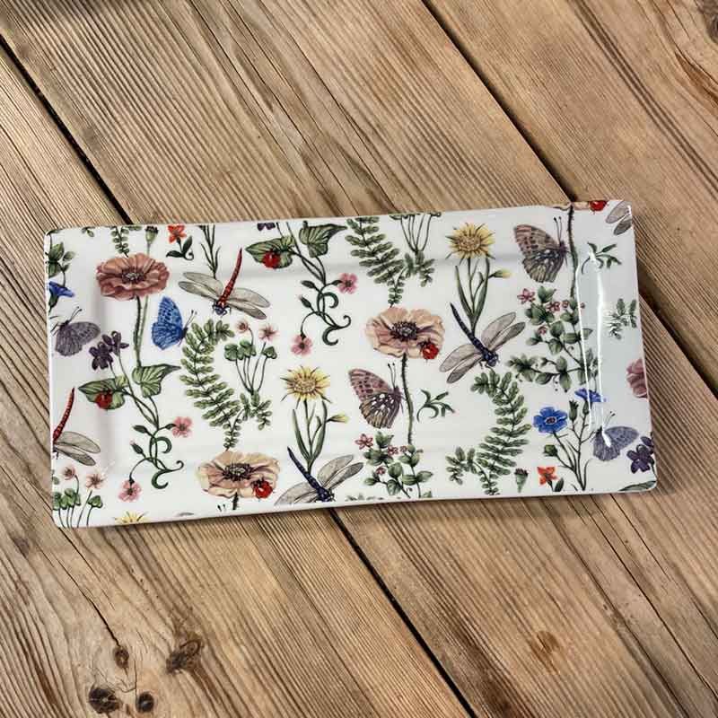 Picture of Gisela Graham Flora & Fauna Rectangular Plate