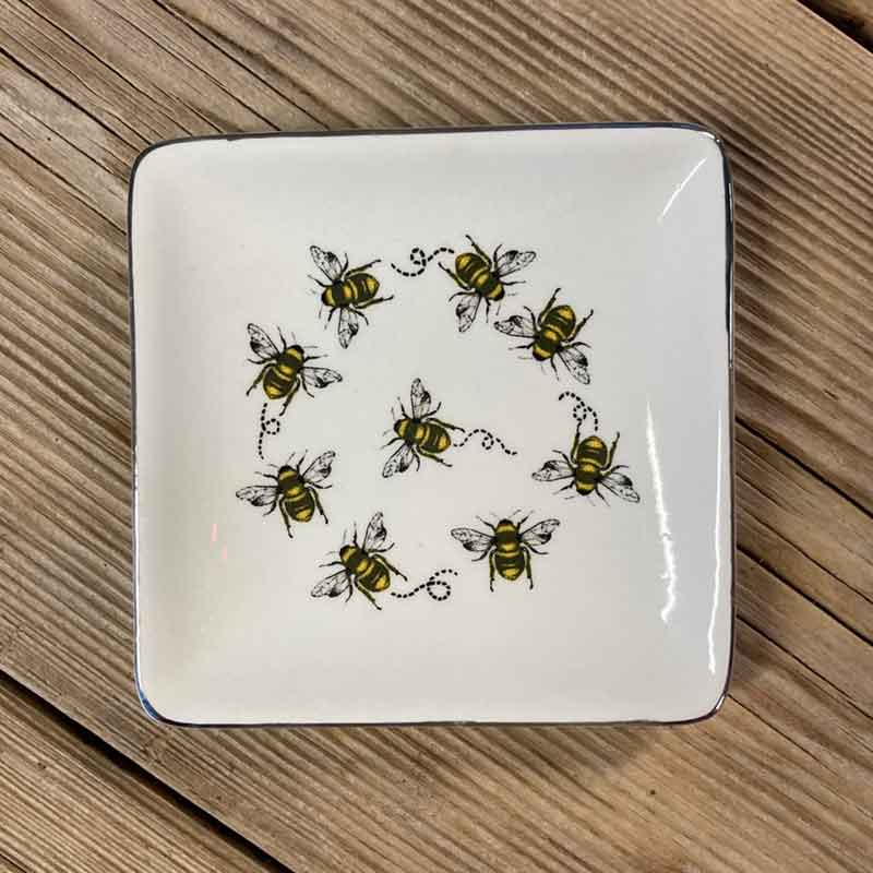 Picture of Gisela Graham Bees Ceramic Trinket Dish