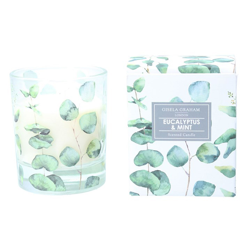 Picture of Gisela Graham Eucalyptus & Mint Scented Candle