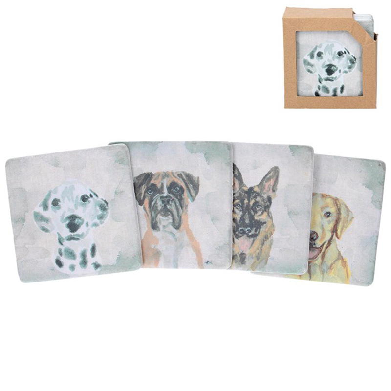 Picture of Gisela Graham Watercolour Dogs Resin Coaster