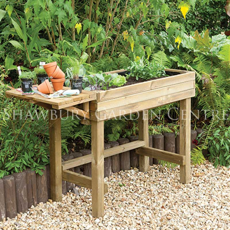 Forest Garden Trough Table Planter