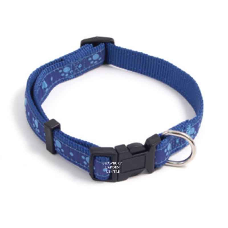 Picture of Rosewood Blue Paw Collar
