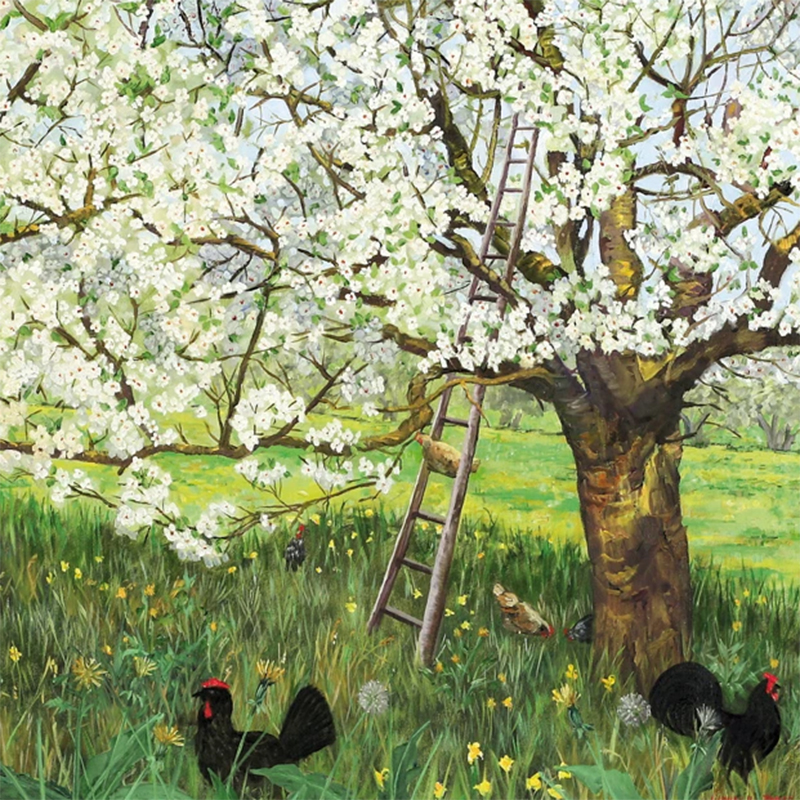 Picture of 'Spring Blossom' by Mary Larnach-Jones - blank inside