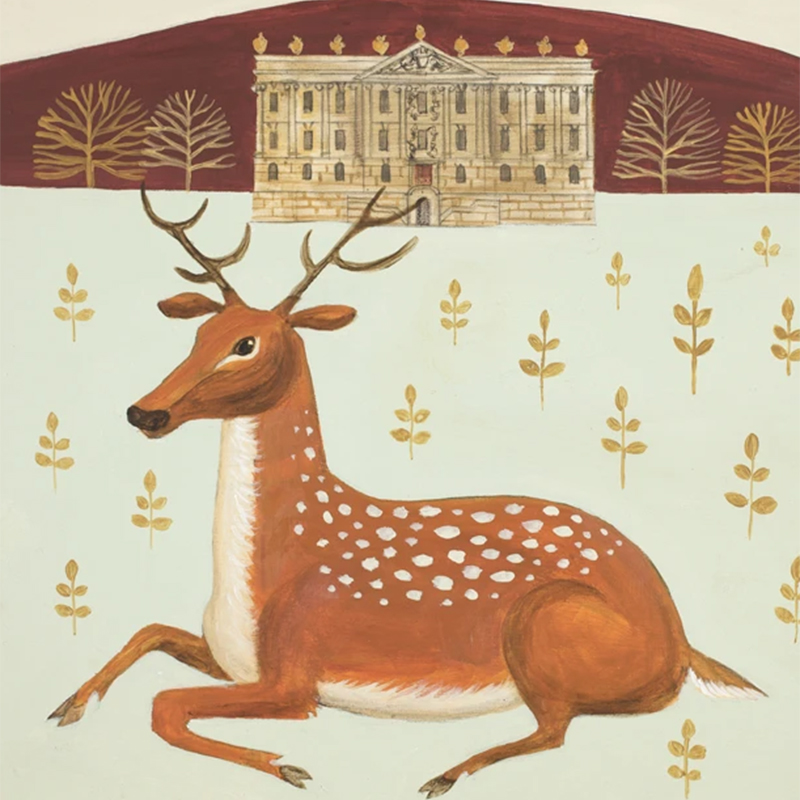 Picture of 'Chilling at Chatsworth' by Catriona Hall - blank inside card