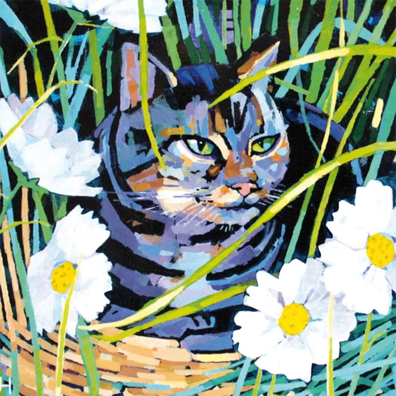 Picture of 'Cat and Cosmos' by Jenny Hancock - blank inside card