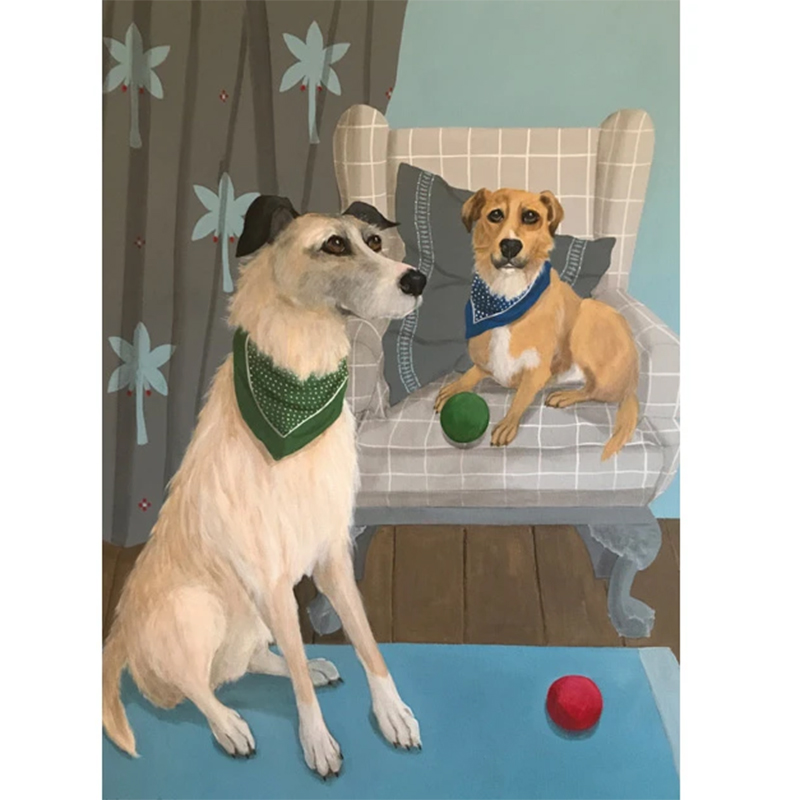 Picture of 'Elmo and Conker' by Mary Carlson - blank inside card