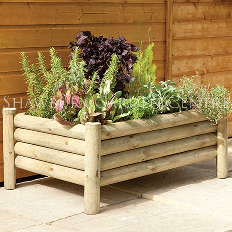 Picture of Forest Garden Raised Log Planter