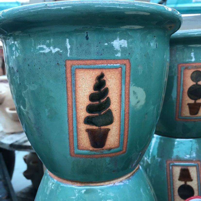 Picture of 'Topiary' Glazed Pots