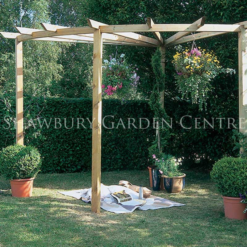 Picture of Forest Garden Radial Pergola 90