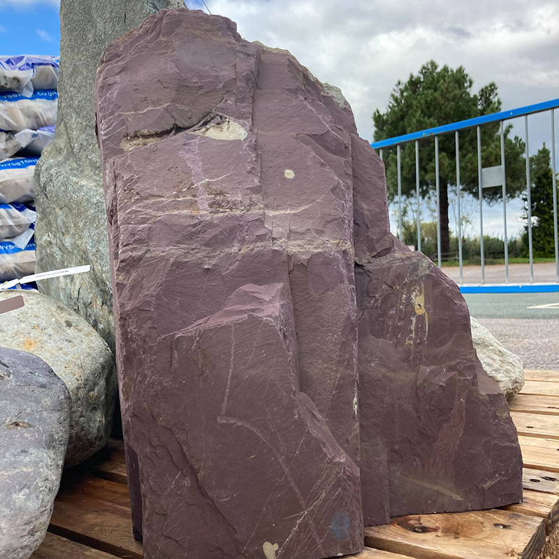 Picture of Pre-Drilled Plum Slate Standing Stone