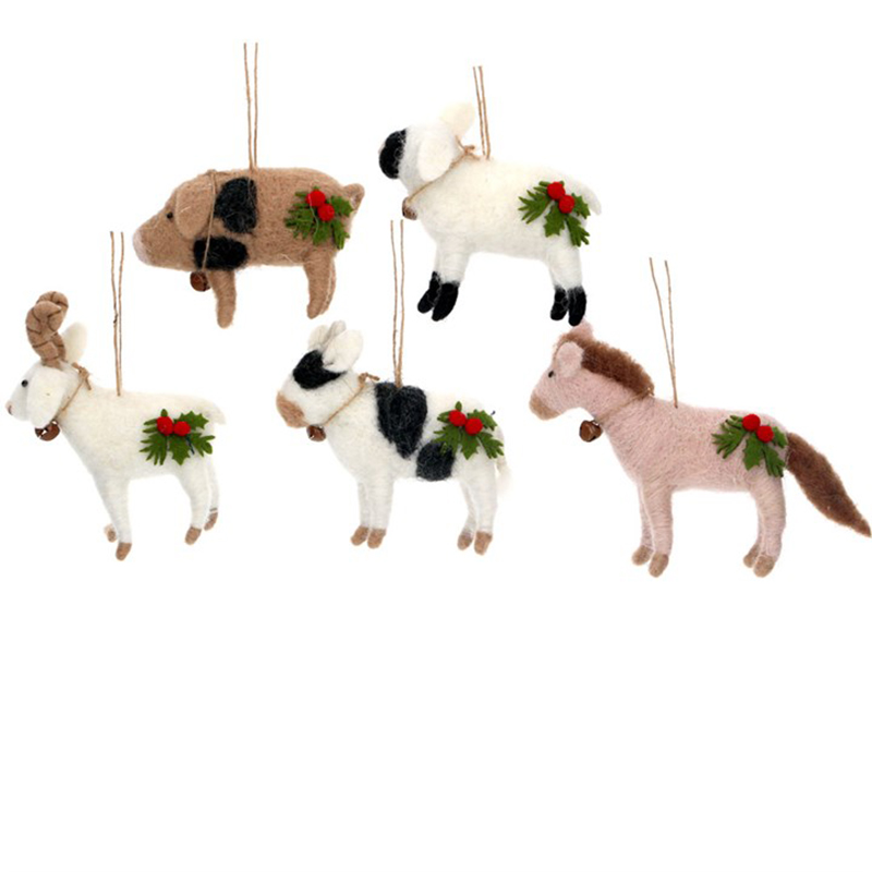 Picture of Gisela Graham Wool Farm Animals Deco