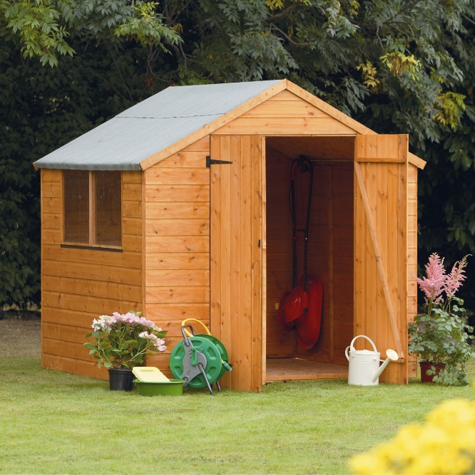 Forest garden 7x7 shiplap apex shed for Garden shed 7x7
