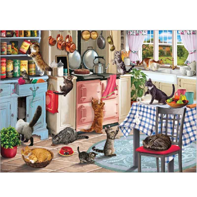 Picture of Otter House Ltd CATS IN THE KITCHEN 1000 Piece Jigsaw Puzzle