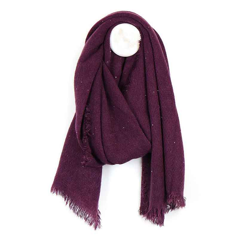 Picture of pom925 Mulberry Loose Weave Scarf with Sequins