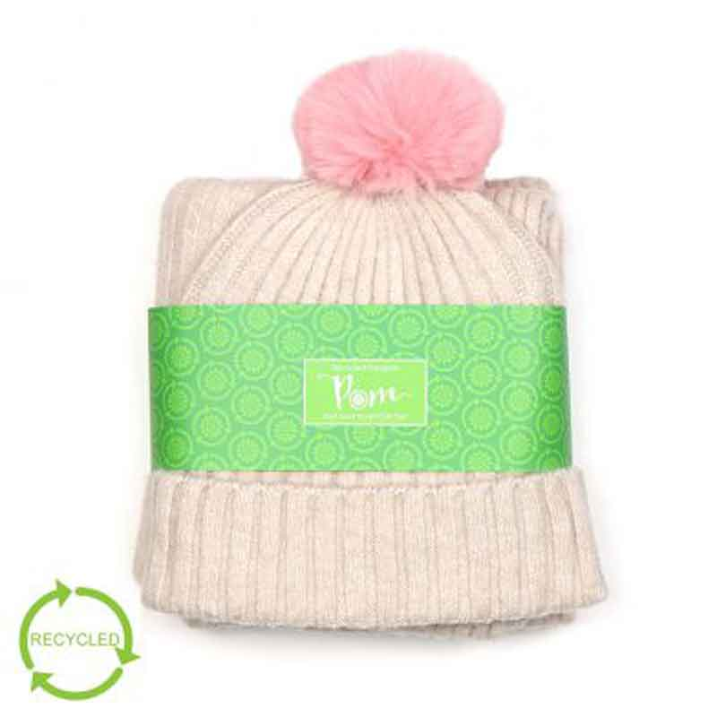 Picture of pom925 Ribbed Knit Hat & Scarf