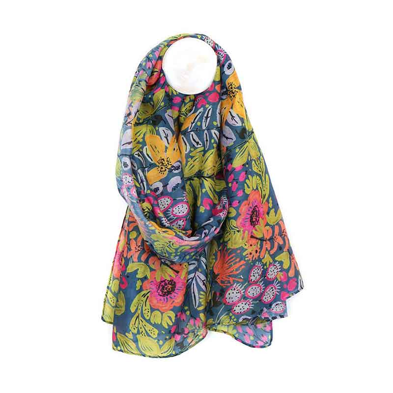 Picture of pom925 Garden Print Scarf
