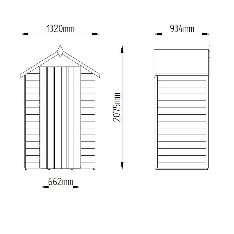 Picture of Forest Garden 4 x 3 Dip Treated Overlap Shed - ASSEMBLED
