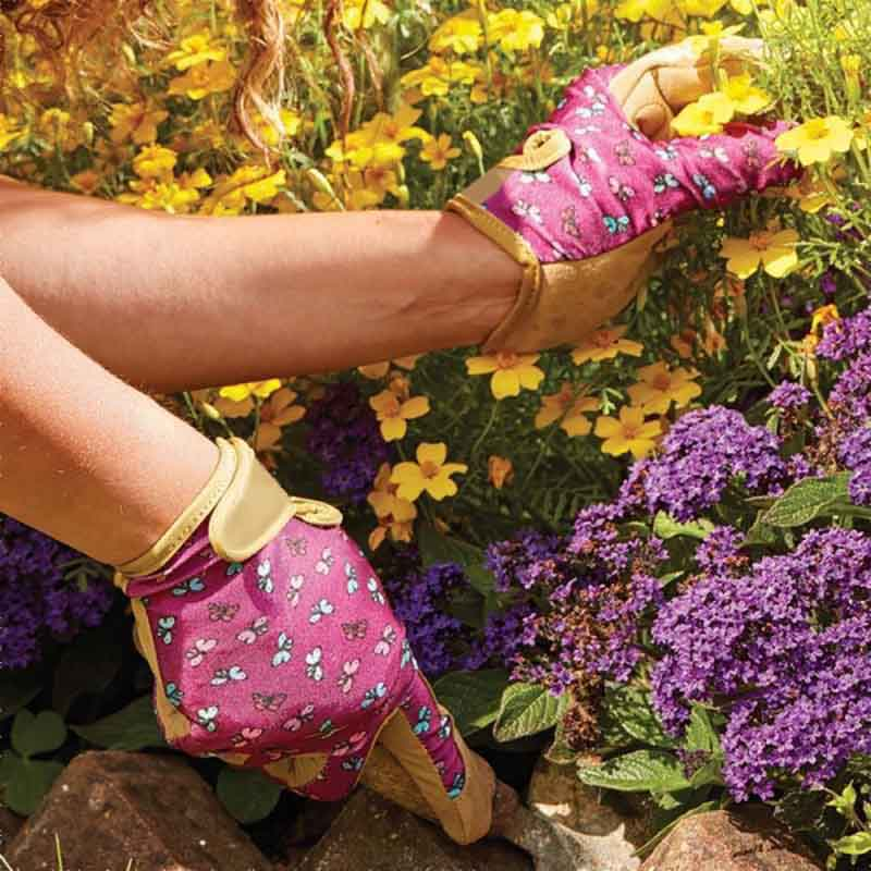 Picture of Briers Flutterfly Leather Smart Gardener Gloves