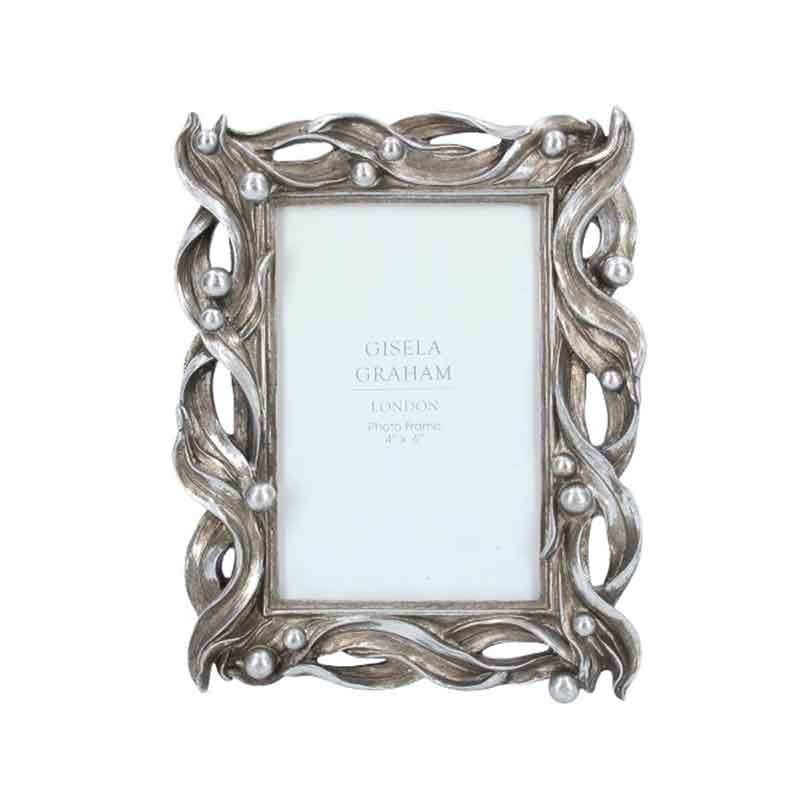 Picture of Gisela Graham Silver Wave Picture Frame