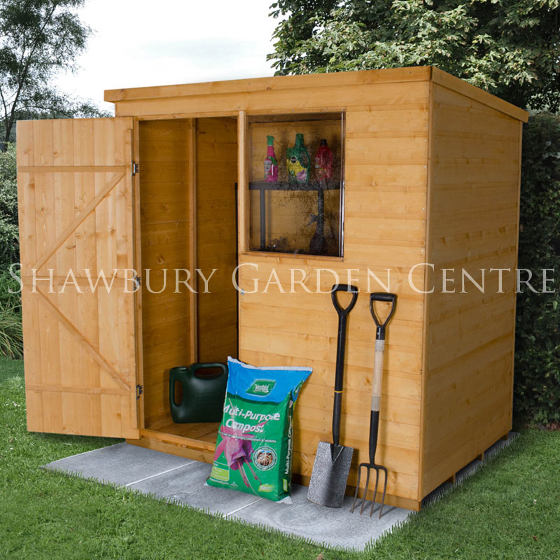 Picture of Forest Garden 6 x 4 Shiplap Pent Shed