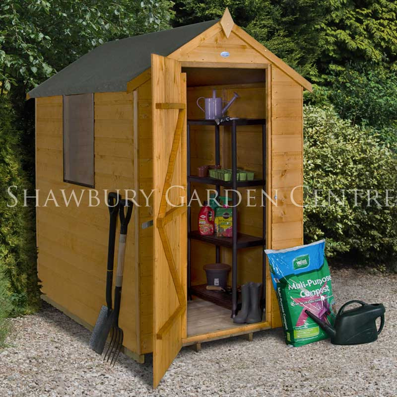 Picture of Forest Garden 4 x 6 Shiplap Apex Shed - Dip Treated & ASSEMBLED
