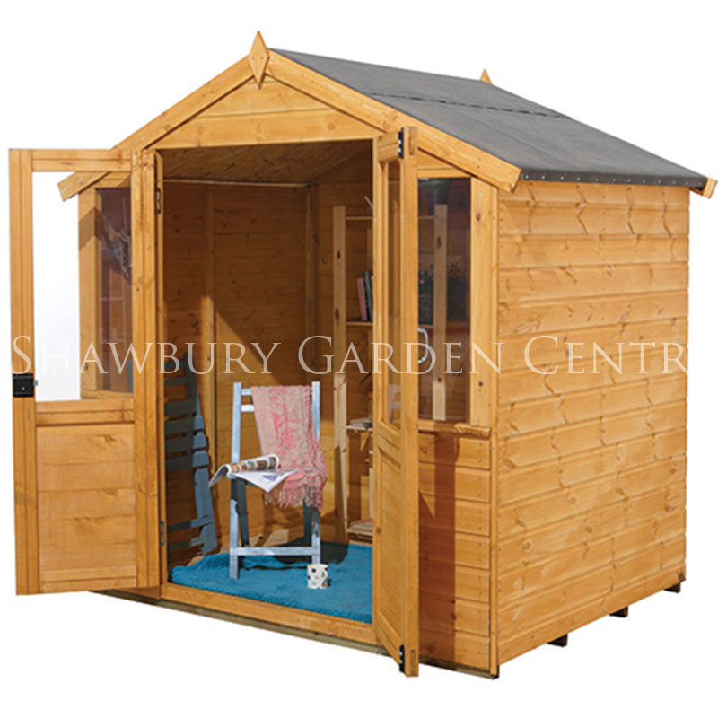 Picture of Forest Garden 7 x 5ft Barleywood Summerhouse: Flat Packed Kit