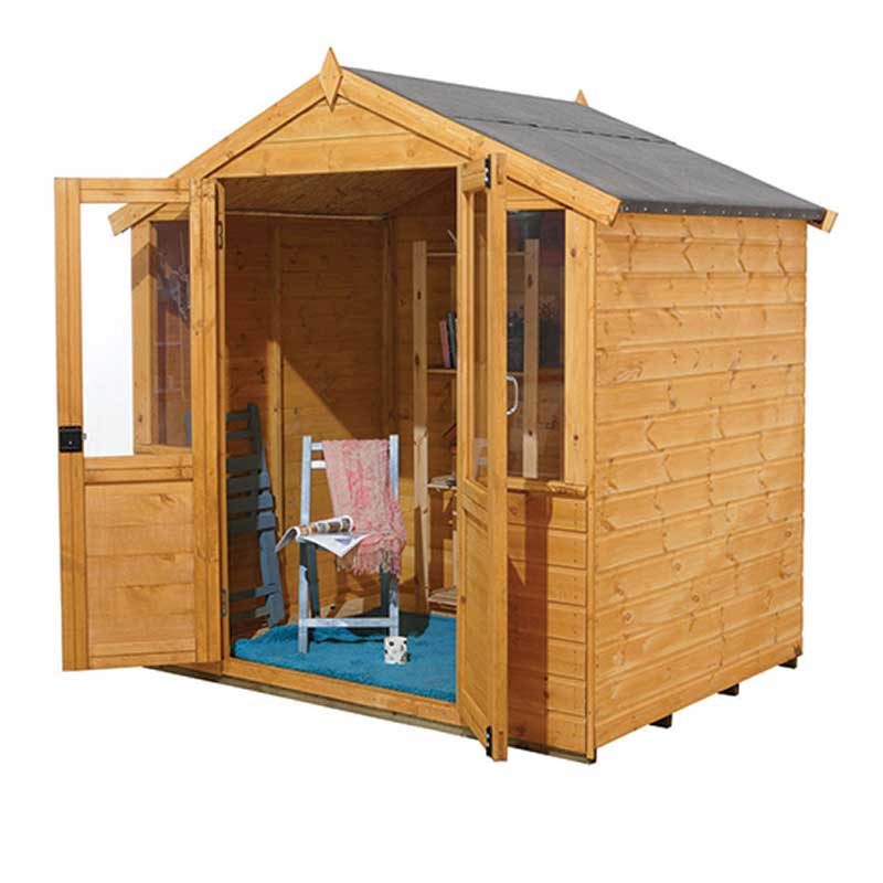 Picture of Forest Garden 7 x 5ft Barleywood Summerhouse: Including Assembly