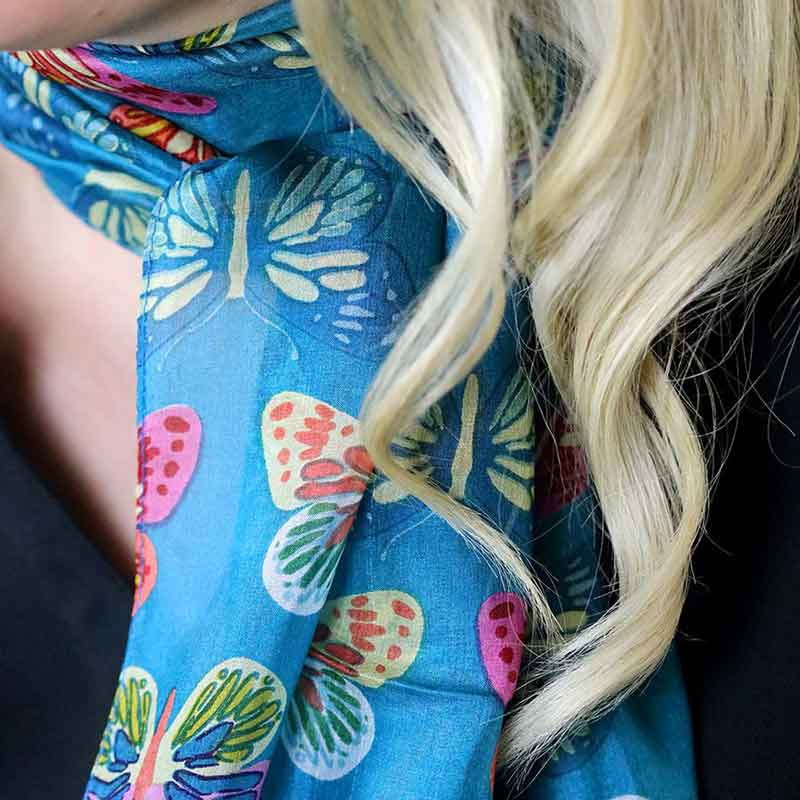 Picture of Butterfly Print Silk Scarf