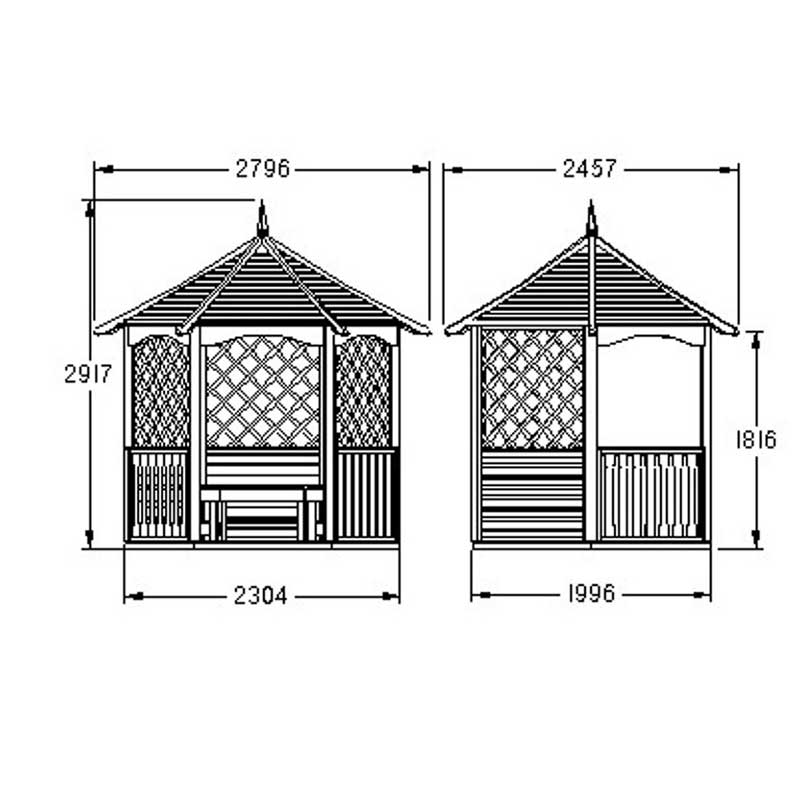 Picture of Forest Garden Burford Gazebo - ASSEMBLED