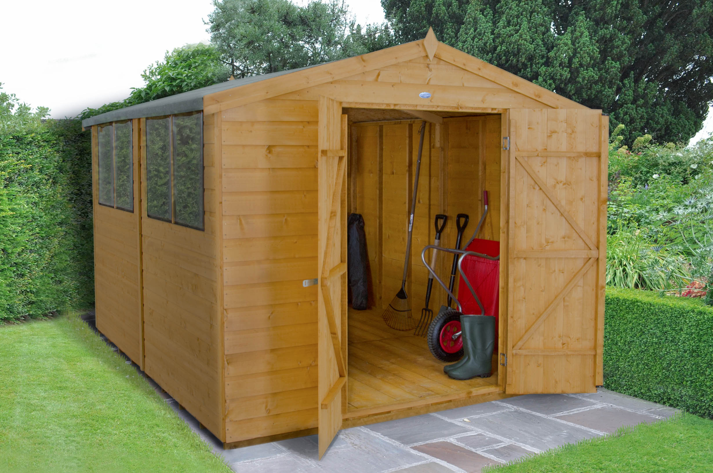 Picture of Forest Garden 8 x 10 Shiplap Apex Workshop Shed