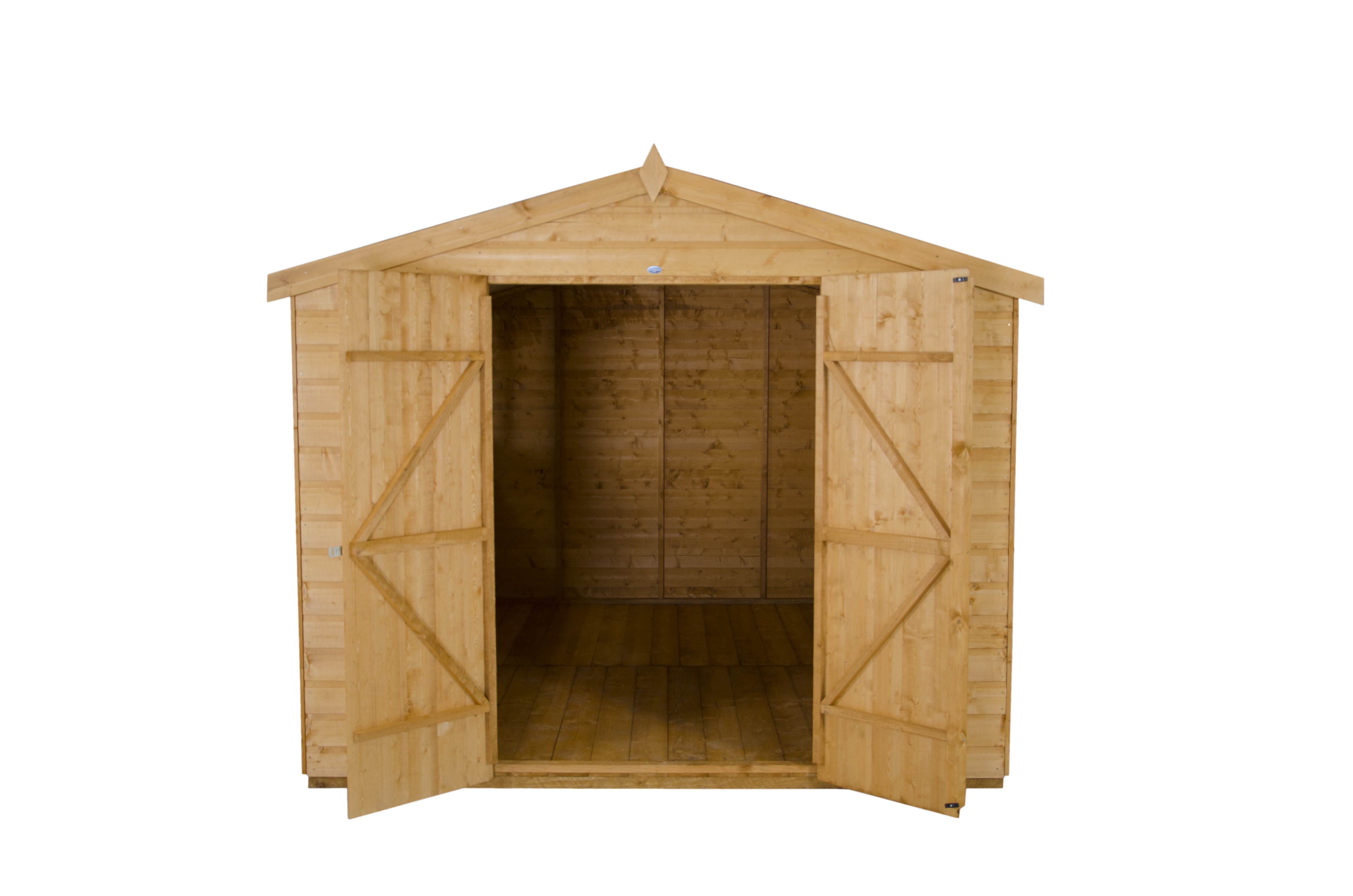 Picture of Forest Garden 8 x 10 Shiplap Apex Workshop Shed - ASSEMBLED