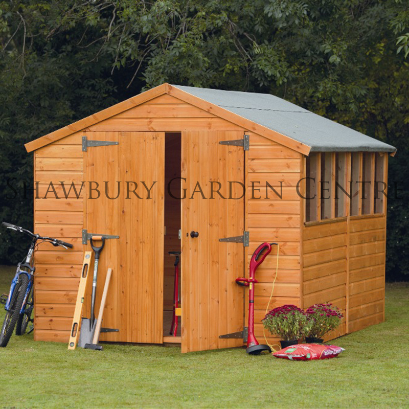 Picture of Forest Garden 8 x 12 Shiplap Apex Workshop Shed - ASSEMBLED