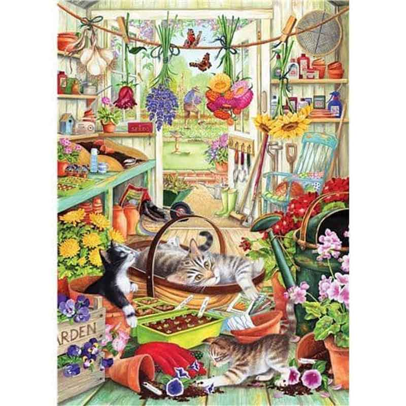 Picture of Otter House Ltd ALLOTMENT KITTENS 500 XL Piece Jigsaw Puzzle
