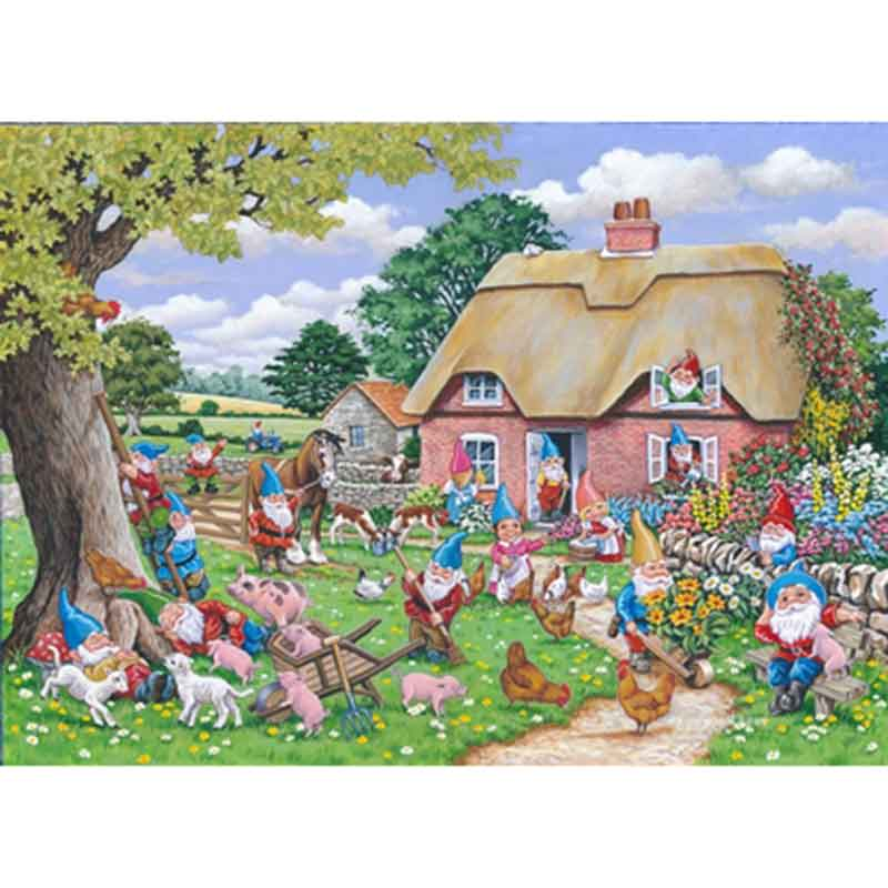 Picture of House of Puzzles 'Gnome Farm' Big 500 Jigsaw