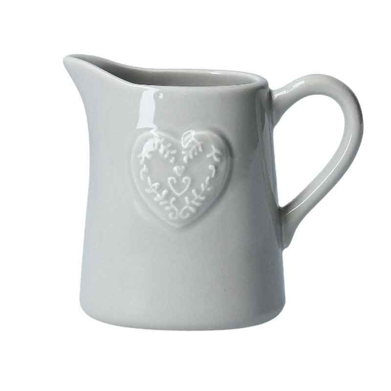 Picture of Gisela Graham Ceramic Jug with Embossed Heart