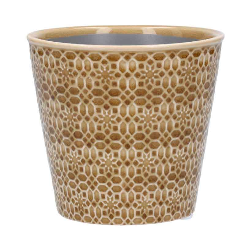 Picture of Gisela Graham Sand Mosaic Ceramic Pot Cover
