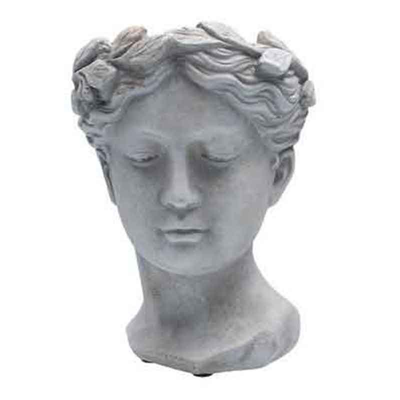 Picture of Gisela Graham Stone Effect Goddess Head Pot Cover Orn