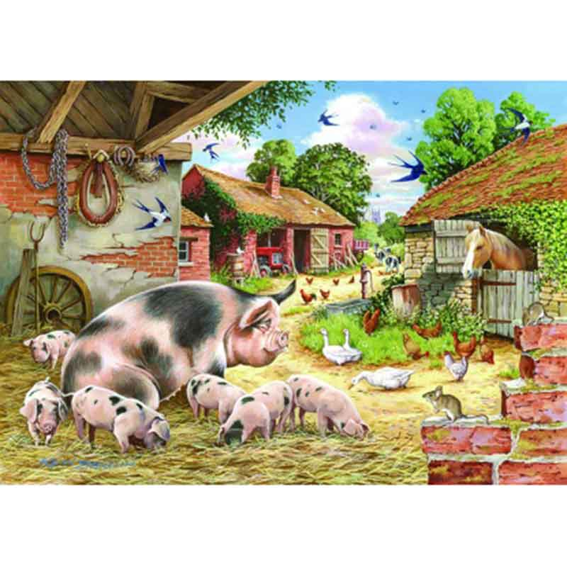 Picture of House of Paws 'Poppy's Piglets' Big 500 Piece Jigsaw
