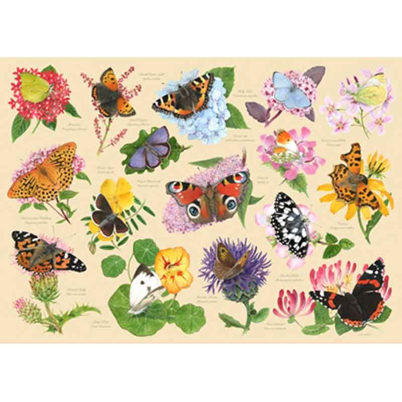 Picture of House of Puzzles 'Garden Butterflies' Jigsaw