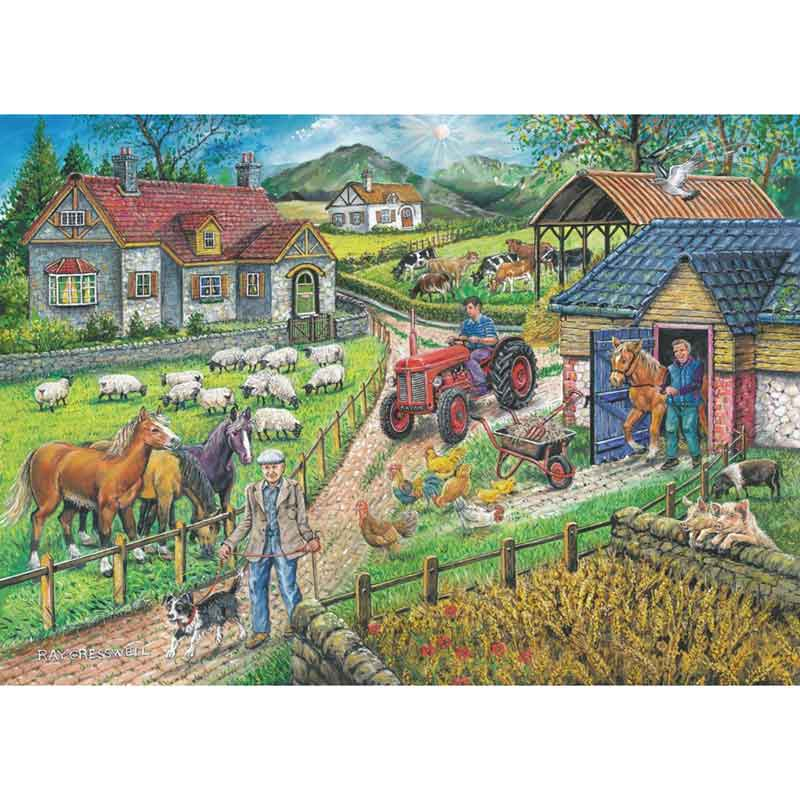 Picture of House of Puzzles 'Barley Mow Farm' Jigsaw Puzzle