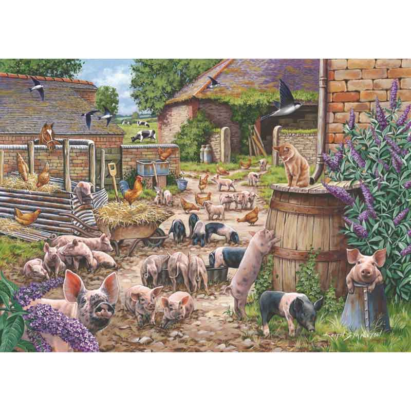 Picture of House of Puzzles 'Piglet Pandemonium' Jigsaw Puzzle