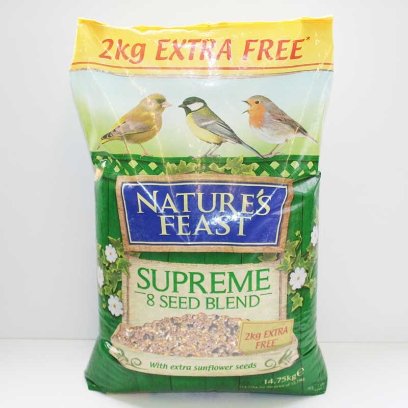Picture of Nature's Feast Supreme 8 Seed Blend Garden Bird Food