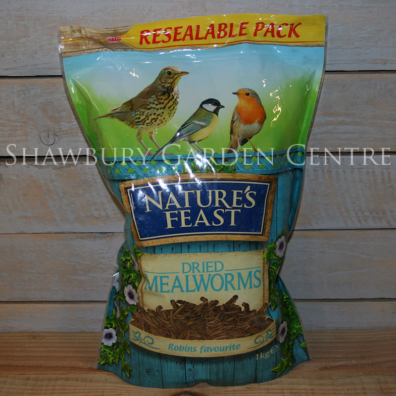 Picture of Nature's Feast Mealworms Garden Bird Food