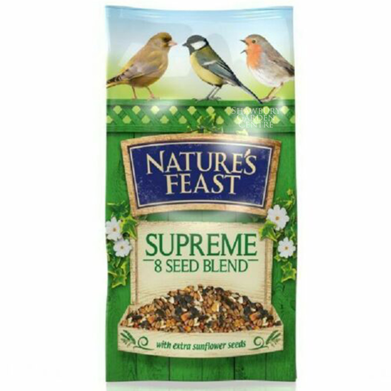Picture of Nature's Feast Supreme 8 Seed Blend Bird Feed
